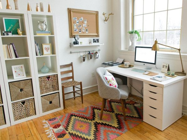 a well organized home office